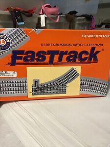 Lionel-6-12017-O-Scale-FASTRACK-O36-MANUAL-SWITCH-LEFT-HAND
