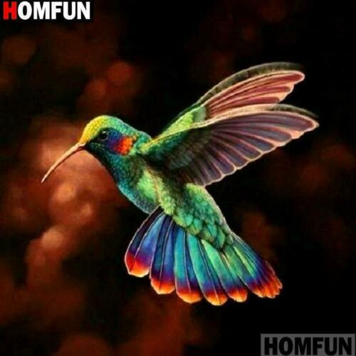 5D Diamond Painting Colorful Hummingbird Kit