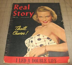 REAL STORY (June 1949) Fair Condition Magazine - Model Merry Allen Cover