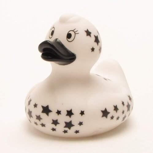 Badeente blanc avec étoiles Quietscheente plastikente grincer canard la Canard en caoutchouc