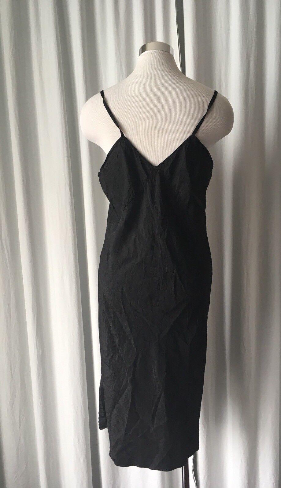 Vintage 40s Black Slip 36/38 - image 4
