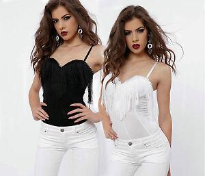 Gorge Soutien Top Body Alina m Xs Débardeur Femme Body Top Fringe By wqO0Y7w