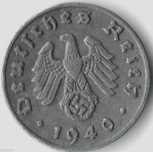 Rare-Old-Antique-Vintage-Germany-WWII-Army-Great-WW2-World-War-2-Collection-Coin