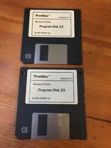 Vintage-Macintosh-Wordlinx-v2-1-1-Ocron-Floppy-Disk-Mac-Software-1992