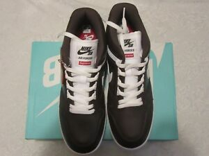 a5bf88168ef9 Nike AF2 Supreme SB Low Brown World Famous Air Force 2 II AA0871 212 ...