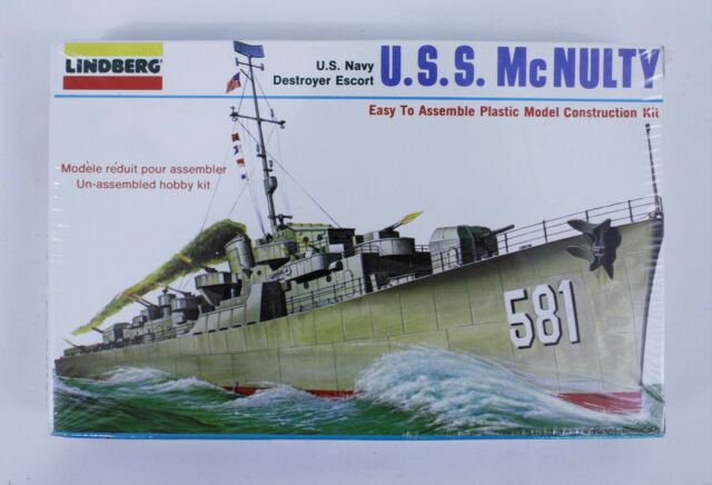 Vintage Lindberg U.S.S. McNulty U.S. Navy Escort Destroyer 1:535 Scale Model NEW