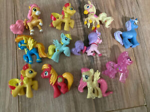 "11 G4 My Little Pony MLP Brushable 1"" Inch Rare Horse Bundle Mini Ponies Unicorn"