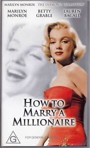 HOW-TO-MARRY-A-MILLIONAIRE-Marilyn-Monroe-Betty-Grable-VIDEO-VHS-Pal-SirH70