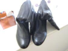 "Legion Ladies Boots , 14"" High , Mid Calf , Size 8 , Scrunchy , Leather , Black"