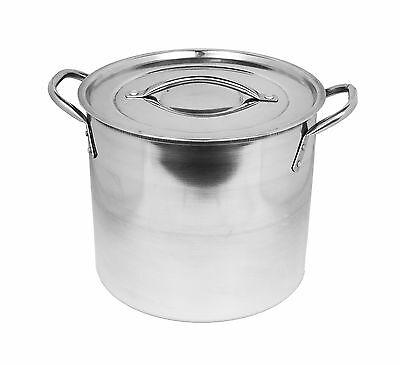 Deep Large Stainless Steel Casserole Cook Stockpot Saucepan Soup Stew Pots & Lid