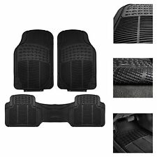 Heavy Duty Floor Mats for Car SUV Auto All Weather 3pc Rubber Set Black