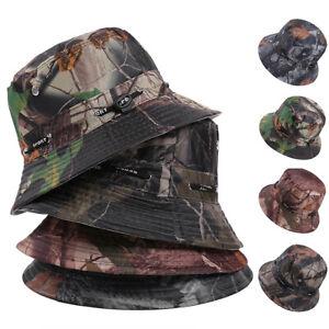f6ee8b524c3a8 Bucket Hat Cap Camouflage Fishing Boonie Brim Visor Safari Summer ...