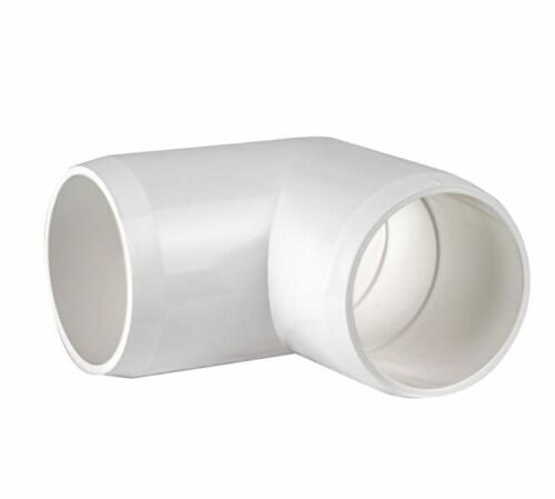 1-1//4-Inch Elbow FITS 1.66 INCH PIPE PVC Furniture Grade 90-Deg Pack of 2