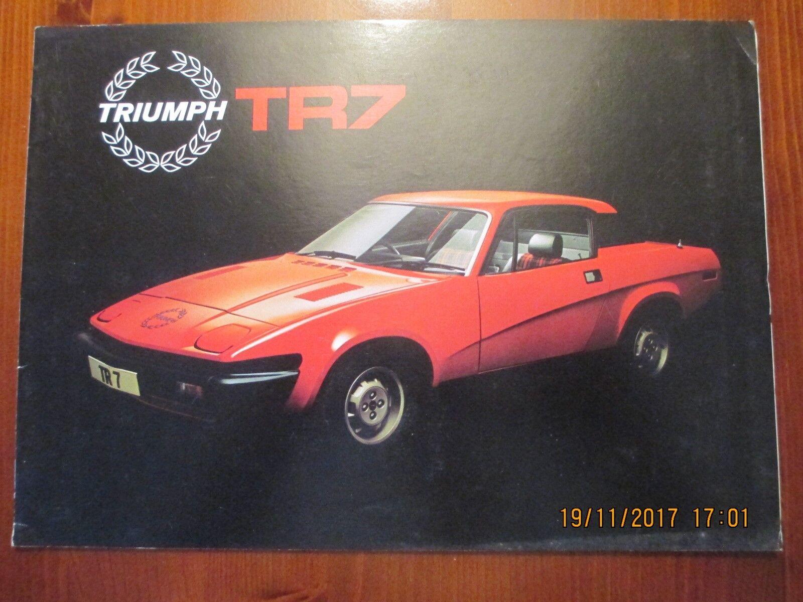 Triumph Tr7 Coupe 1978 Uk Market Sales Brochure 3256c For Sale