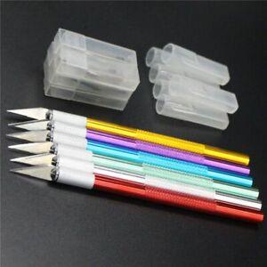 metal-scalpel-lame-de-cutter-avec-6pcs-gravure-couteau-de-antiderapant