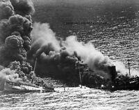 Allied Tanker Torpedoed By German Submarine 8x 10 World War Ii Photo 116