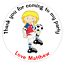 Personalised Birthday Stickers Football Thank You For Coming Party Bag
