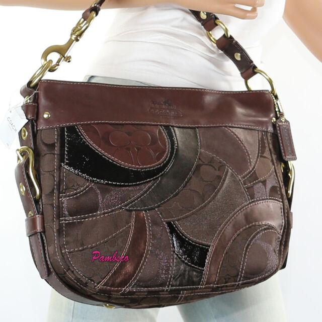 Nwt Coach Patchwork Zoe Shoulder Bag Hand Hobo F13515 Brown New Rare