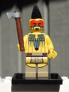 Genuine Lego Mini figure Tomahawk Warrior from  series 10