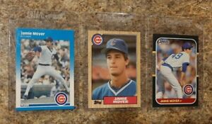 (3) Jamie Moyer 1987 Fleer Glossy Topps Donruss Rookie Card lot RC Cubs Phillies