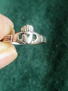 Celtic Claddagh Ring - Size 7.5 Classic .925 Sterling Silver