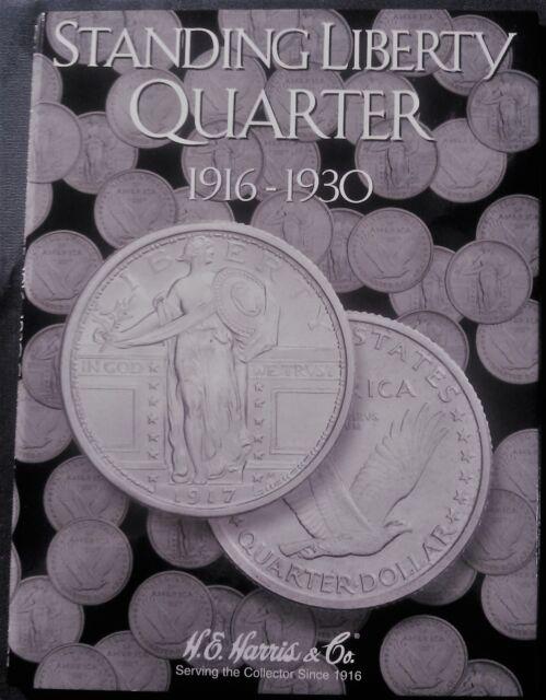 1916 1930 Standing Liberty Quarter Harris 8 HRS 2687 Tri Fold Album