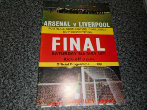 1971 F.A.CUP FINAL ARSENAL v LIVERPOOL WEMBLEY MAY 8th FREE POST
