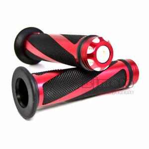 Paire-de-poignees-Moto-scooter-quad-rouge