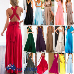 Women-Evening-Dress-Convertible-Multi-Way-Wrap-Bridesmaids-Formal-Long-Maxi-Gown