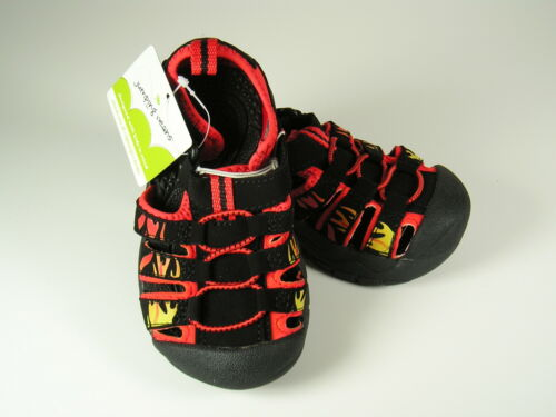 Jumping Beans Sport Sandals Shoes Boys Size 5 Black//Red Flames Toddler NWT
