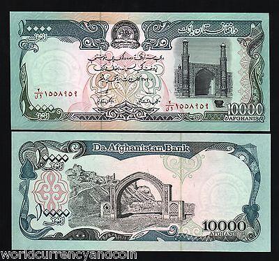 50 x Afghanistan 10000 Afghanis Banknotes P63 1993 1//2 Bundle UNC Currency Note
