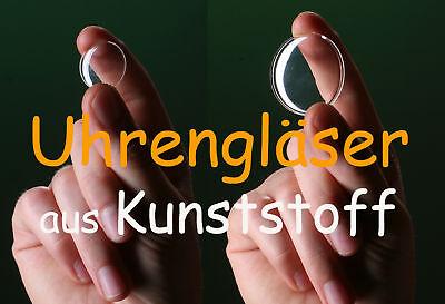 GemäßIgt UhrenglÄser Aus Kunststoff / Rund, Gewölbt, Neu / Für Armbanduhren: Auswahl