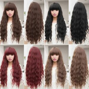 Womens-Long-Wavy-Curly-Hair-Synthetic-Cosplay-Wigs-Party-Heat-Resistant-AUK