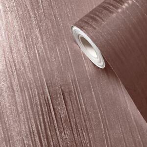 Mia-Texture-Papier-Peint-Metallise-Dore-Rose-Muriva-701377-Brillant