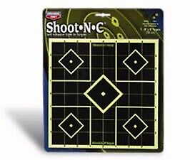 15 TargetsHigh Visibility Birchwood Casey Shoot-N-C 8in Sight-In Target