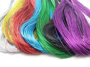 100-Yards-1mm-Metallic-Thread-Jewelry-String-Beading-Cord-For-Gift-Tag-Card