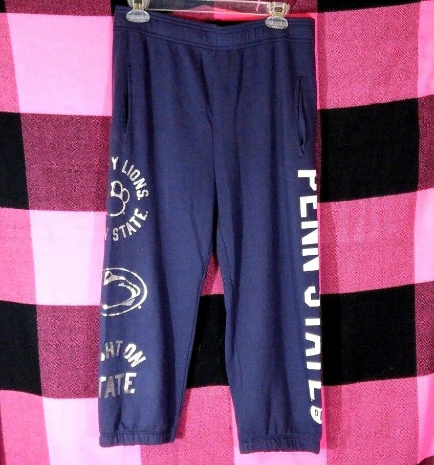 Victoria's Secret PINK Penn State Nittany Lions Campus Crop Sweatpants Small NWT