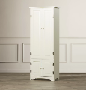 Details About Tall Storage Cabinet White Kitchen Laundry Office Bathroom Cupboard Wood Modern
