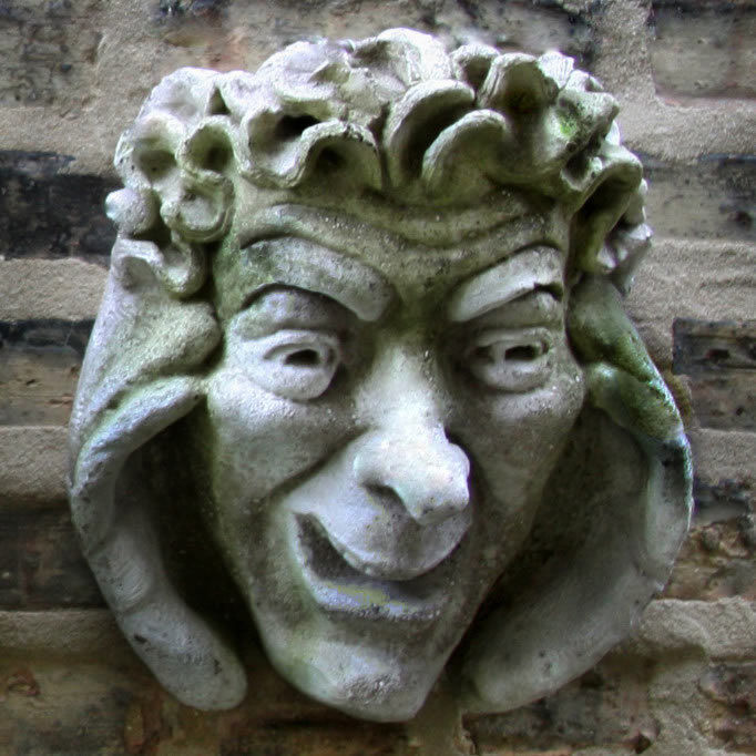 Sanguina de Oxford gótico Jardín Exterior Parojo Arte Escultura Placa-por Orlandi