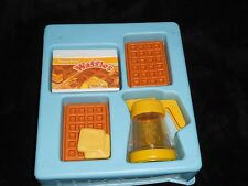 Vintage Fisher Price Fun with Food Waffles & Syrup in Original Box