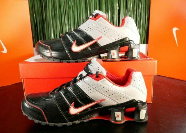 RARE Nike Shox O'Nine Silver Black Red Mens Running Shoes 365951-006 Size  11-12