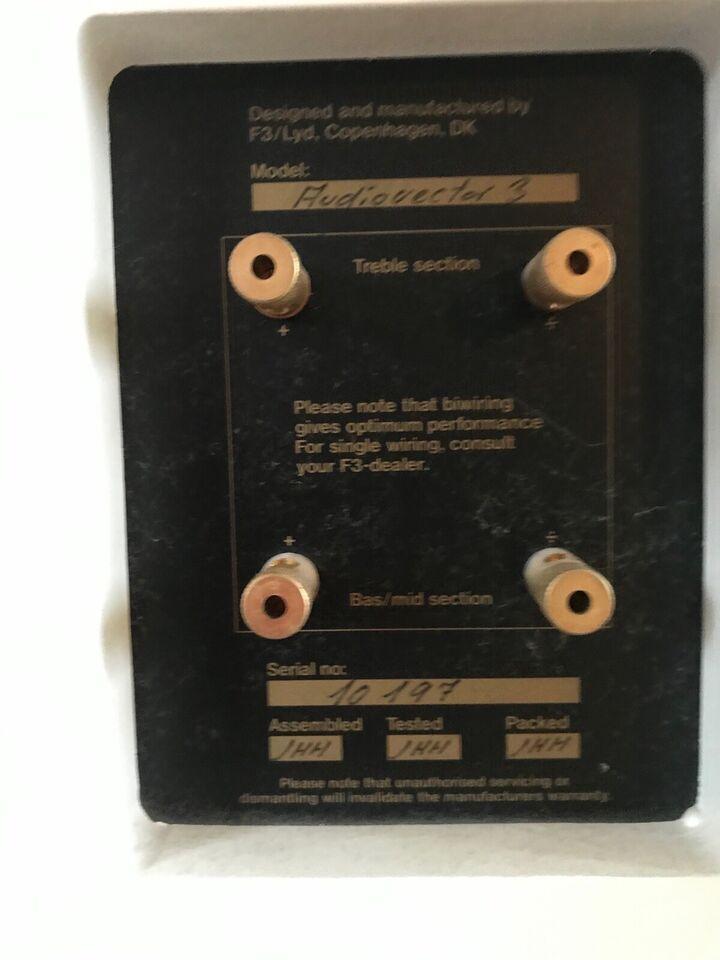 Højttaler, Audiovector, 3