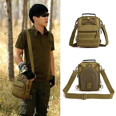 Military Tactical Mens Molle Sling Chest Bag Assault Pack Shoulder Bag Backpack