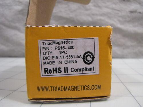 Triad Magnetics FS16-400 Power Transformer NEW
