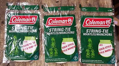 BRAND NEW SIX COLEMAN LANTERN MANTLES #11 STRING TIE 3 PACKS OF 2 6 MANTLES