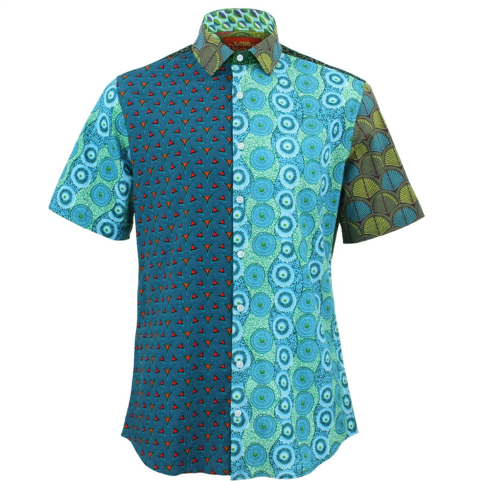 Mens Shirt Loud Originals TAILGoldt FIT Random Panel Retro Psychedelic Fancy  | Schön und charmant  | Verschiedene Waren  | Neues Produkt