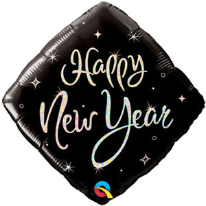 NEW-YEAR-039-S-EVE-BALLOON-18-034-HAPPY-NEW-YEAR-ELEGANT-DIAMOND-QUALATEX-FOIL-BALLOON