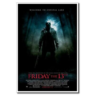 """A Nightmare on Elm Street 24/""""x16/"""" Old Horror Movie Silk Poster Wall Decoration"""