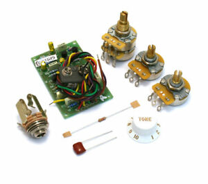 Genuine-Fender-Stratocaster-Active-Pre-Amp-25DB-Mid-boost-mise-a-niveau-Cablage-Kit