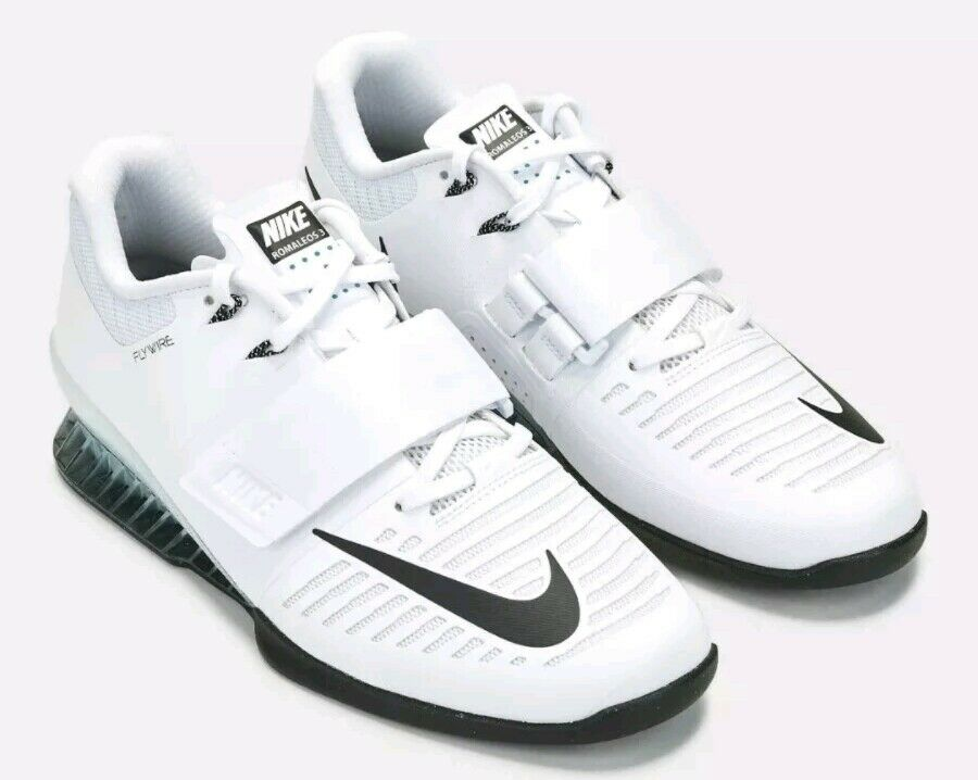 Nike Romaleos 3 Weightlifting Shoes Mens Size 14 White 852933-100